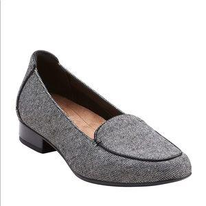 Clarks Keesha Luca Black Tweed Wool Loafer